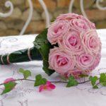 bouquet sposa rosa cipria
