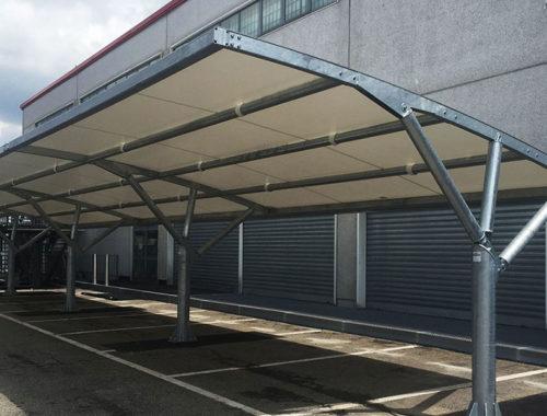 coperture auto parcheggio aziendale