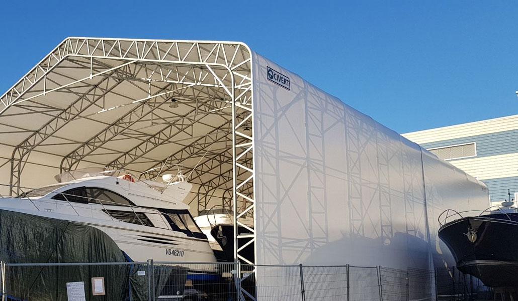 copertura pvc hangar barca